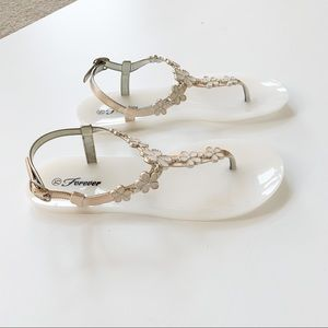 Forever Fairy-26 White Jelly Sandal